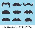 set of vintage mustache icon | Shutterstock .eps vector #124118284