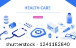 health care concept with text... | Shutterstock .eps vector #1241182840
