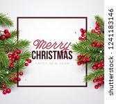 merry christmas background.... | Shutterstock .eps vector #1241183146
