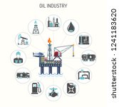oil industry concept with two... | Shutterstock .eps vector #1241183620