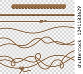 set ropes and knots. line and...   Shutterstock .eps vector #1241183629