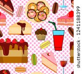 seamless pattern with biscuits  ... | Shutterstock .eps vector #1241188399