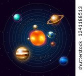 planets of the solar system or... | Shutterstock .eps vector #1241188513