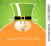 card st. patrick's day.... | Shutterstock .eps vector #124118860