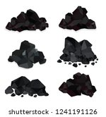 pile of charcoal   coal heaps... | Shutterstock .eps vector #1241191126