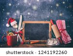 rustic background for christmas ... | Shutterstock . vector #1241192260