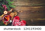 christmas mulled red wine with... | Shutterstock . vector #1241193400