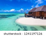water villas  bungalows  at... | Shutterstock . vector #1241197126