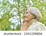 portrait of nice smiling old... | Shutterstock . vector #1241198806