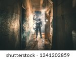silhouette of criminal or... | Shutterstock . vector #1241202859