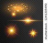 light effect glow. star flashed ... | Shutterstock .eps vector #1241205490