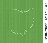vector map of ohio | Shutterstock .eps vector #1241210200