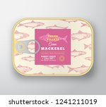 canned fish label template.... | Shutterstock .eps vector #1241211019