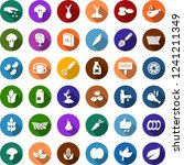 color back flat icon set  ... | Shutterstock .eps vector #1241211349