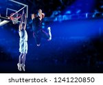 two basketball players in... | Shutterstock . vector #1241220850