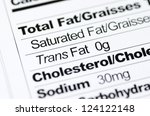 nutrition label focused on... | Shutterstock . vector #124122148