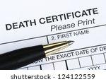 death certificate | Shutterstock . vector #124122559