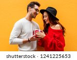 studio close up image of couple ... | Shutterstock . vector #1241225653