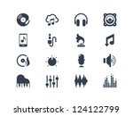 music icons | Shutterstock .eps vector #124122799