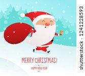 christmas vector illustration.... | Shutterstock .eps vector #1241228593