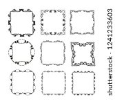 set of vector vintage frames on ... | Shutterstock .eps vector #1241233603