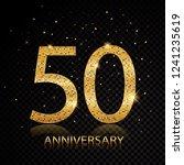 50 anniversary golden numbers... | Shutterstock .eps vector #1241235619