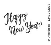 lettering words happy new year... | Shutterstock .eps vector #1241242039
