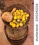 autumn harvest in the woven... | Shutterstock . vector #1241242216