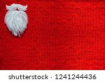 santa claus beard on red... | Shutterstock . vector #1241244436