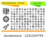 vector icons pack of 120 filled ...   Shutterstock .eps vector #1241244793