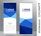 blue roll up business brochure... | Shutterstock .eps vector #1241246479