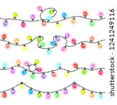 set of seamless festive colored ... | Shutterstock .eps vector #1241249116