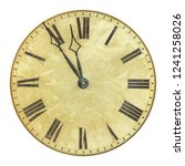 ancient weathered clock face... | Shutterstock . vector #1241258026