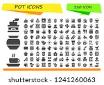 vector icons pack of 120 filled ... | Shutterstock .eps vector #1241260063