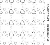 seamless pattern with black... | Shutterstock .eps vector #1241260939