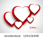 background with hearts   Shutterstock .eps vector #124126348