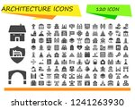 vector icons pack of 120 filled ... | Shutterstock .eps vector #1241263930