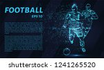 football of blue glowing dots.... | Shutterstock .eps vector #1241265520