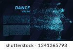 dance of the blue points of... | Shutterstock .eps vector #1241265793