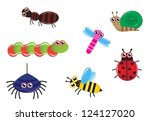 set cartoon insect ant ...