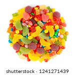 mixed colorful candies. color... | Shutterstock . vector #1241271439