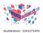 business and finance concept.... | Shutterstock .eps vector #1241271493