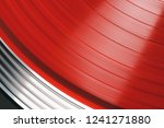 vinyl record rotate. a ray of... | Shutterstock . vector #1241271880
