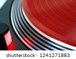 vinyl record rotate. a ray of... | Shutterstock . vector #1241271883