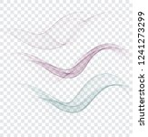 abstract wavy lines in the form ... | Shutterstock .eps vector #1241273299