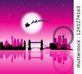 vector illustration of santa in ...   Shutterstock .eps vector #1241274163
