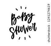 baby shower hand drawn... | Shutterstock .eps vector #1241274619