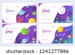 huge universe vector brochure... | Shutterstock .eps vector #1241277886