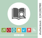 very useful vector icon of book ... | Shutterstock .eps vector #1241282980