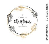 merry christmas greeting text... | Shutterstock .eps vector #1241285806
